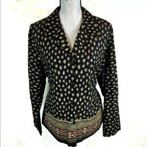 Vintage 80s 90s Button Down Shirt Blouse Plus Size